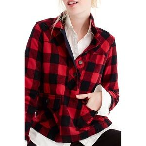 J. CREW | sz XL red buffalo check shirt jacket